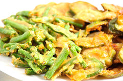 Vegetable fritters. Over white background Stock Image