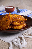 Vegetable fritters Stock Image