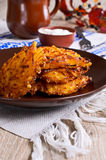 Vegetable fritters Royalty Free Stock Images
