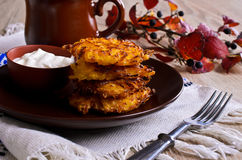 Vegetable fritters Stock Images