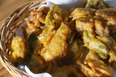 Vegetable Fritters. Top view of Vegetable Fritters. Vegetable fritters are a popular snack all over India, Pakistan and Afghanistan. It is made from frying Royalty Free Stock Photo