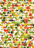 Vegetable and fruit background Stock Images