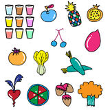 Vegetable fruit drawing Stock Photography