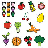 vegetable fruit drawing Stock Image