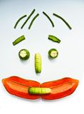 Vegetable fruit face smile Royalty Free Stock Image