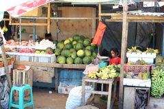 Vegetable and fruit, fish market in Morotai Island, Indonesia Stock Photography
