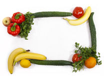 Vegetable and fruit framework Stock Image