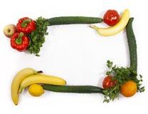 Vegetable and fruit framework Stock Image