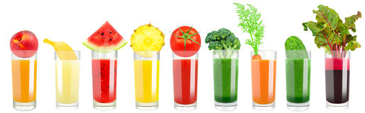 vegetable and fruit juice Stock Photo