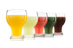 Vegetable and fruit juice glass isolated Royalty Free Stock Photos