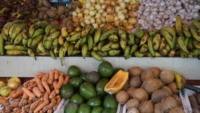 Vegetable and Fruit Market in Curacao Stock Image