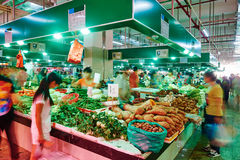 Vegetable fruit market. Low speed shutter photography:vegetable fruit market in China,Asia stock photography