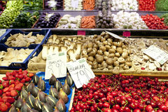 Vegetable and Fruit Market Royalty Free Stock Photography