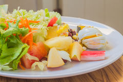 Vegetable and fruit salad Royalty Free Stock Photo