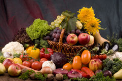 Vegetable and fruits food still-life Stock Images