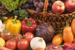 Vegetable and fruits food still-life Royalty Free Stock Photography
