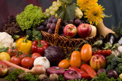 Vegetable and fruits food still-life Royalty Free Stock Photo