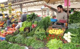 Vegetable and fruits market Stock Image