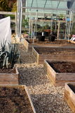 Vegetable garden. Photograph of raised vegetable beds Stock Photography