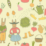 Vegetable garden pattern Royalty Free Stock Images