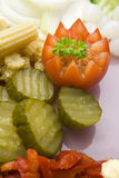 Vegetable garnish Stock Images