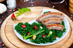 Vegetable garnish, cime di rapa Stock Photos