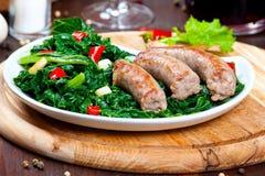 Vegetable garnish, cime di rapa Royalty Free Stock Images