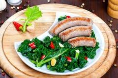 Vegetable garnish, cime di rapa Royalty Free Stock Image
