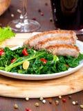 Vegetable garnish, cime di rapa Stock Image
