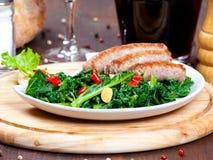 Vegetable garnish, cime di rapa Stock Photography