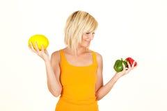 Vegetable girl royalty free stock image