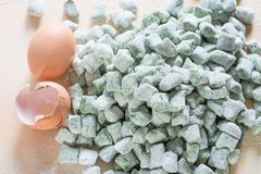 Fresh gnocchi homemade with spinach and ricotta royalty free stock images