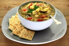 Vegetable gourmet soup royalty free stock image