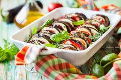 Vegetable gratin Stock Images