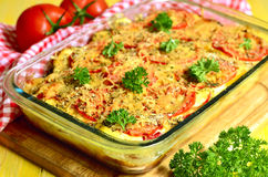 Vegetable gratin. Vegetable gratin - dish of french cuisine royalty free stock images