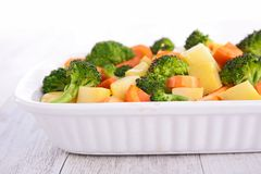 Vegetable gratin Stock Photos
