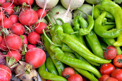 Vegetable in green and red Royalty Free Stock Photo