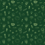 Vegetable green seamless vector pattern Royalty Free Stock Image