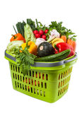 Vegetable Groceries in Shopping Basket Stock Images