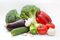Vegetable group. On a white background Royalty Free Stock Photo