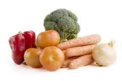 Vegetable Group. Of food Royalty Free Stock Image
