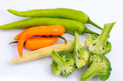 Vegetable group. On white back ground Royalty Free Stock Photography