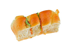 Vegetable and ham bread Stock Photos
