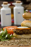 Vegetable hamburger Stock Photo