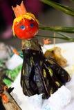 Vegetable handmade halloween figurine Royalty Free Stock Photos