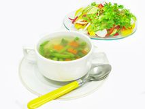 Vegetable haricot bean soup Stock Image