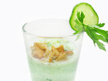 Vegetable healthy cocktail with cucumber Royalty Free Stock Photography