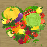 Vegetable heart Stock Photos