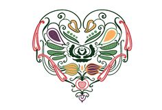 Vegetable heart Royalty Free Stock Image