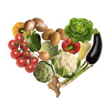Vegetable heart. Isolated on white background Stock Photography